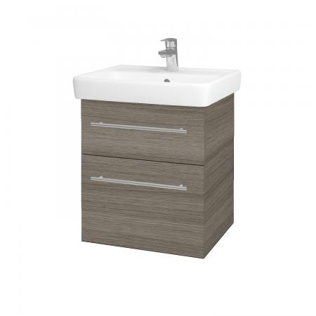 Dřevojas - Koupelnová skříň Q MAX SZZ2 55 - D03 Cafe / Úchytka T02 / D03 Cafe (68434B)