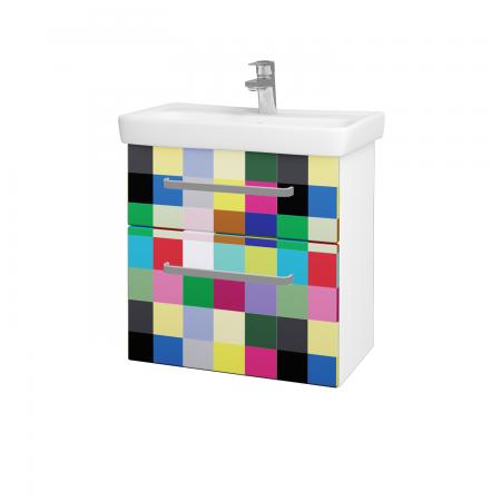 Dřevojas - Koupelnová skříň GO SZZ2 60 - N01 Bílá lesk / Úchytka T01 / IND Individual (23839A)