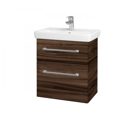 Dřevojas - Koupelnová skříň GO SZZ2 55 - D06 Ořech / Úchytka T03 / D06 Ořech (29770C)