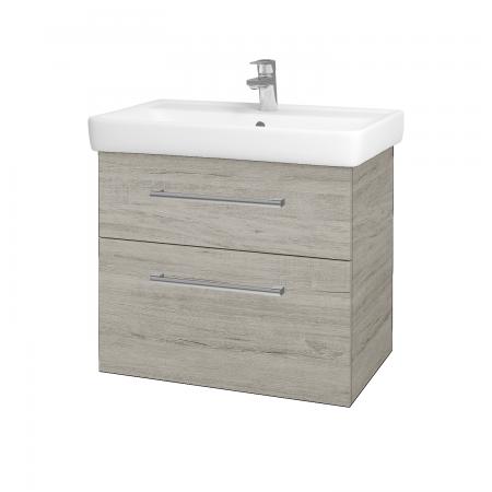 Dřevojas - Koupelnová skříň Q MAX SZZ2 70 - D05 Oregon / Úchytka T03 / D05 Oregon (61329C)