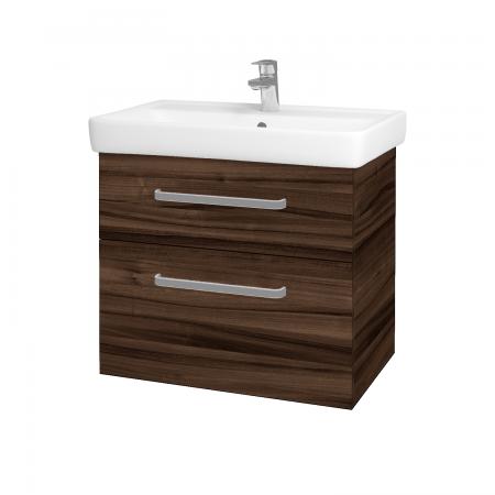 Dřevojas - Koupelnová skříň Q MAX SZZ2 70 - D06 Ořech / Úchytka T01 / D06 Ořech (60414A)
