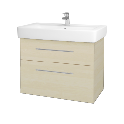 Dřevojas - Koupelnová skříň Q MAX SZZ2 80 - D02 Bříza / Úchytka T02 / D02 Bříza (60322B)