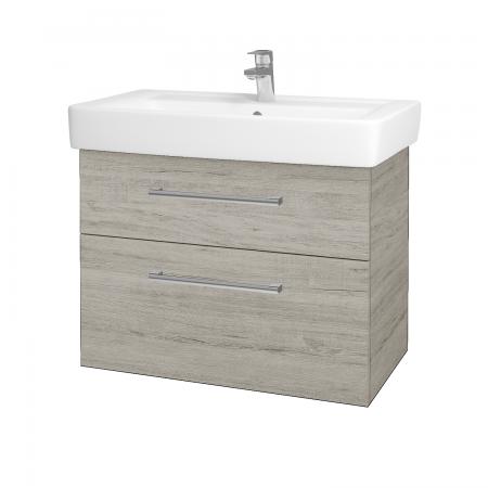 Dřevojas - Koupelnová skříň Q MAX SZZ2 80 - D05 Oregon / Úchytka T03 / D05 Oregon (61336C)