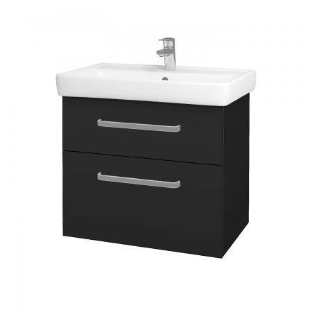 Dřevojas - Koupelnová skříň Q MAX SZZ2 70 - L03 Antracit vysoký lesk / Úchytka T01 / L03 Antracit vysoký lesk (60384A)