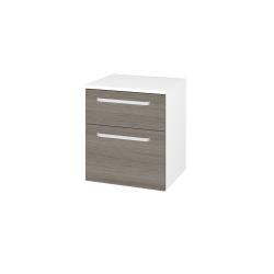 Dřevojas - Skříň spodní DOS SNZ2K  50 - N01 Bílá lesk / Úchytka T01 / D03 Cafe (63224A)