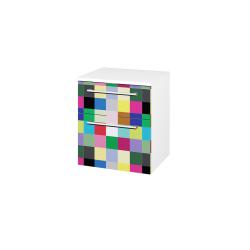 Dřevojas - Skříň spodní DOS SNZ2K  50 - N01 Bílá lesk / Úchytka T03 / IND Individual (66102C)