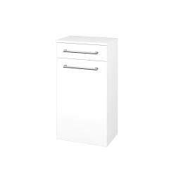 Dřevojas - Skříň spodní DOS SNDKZ 50 - N01 Bílá lesk / Úchytka T03 / L01 Bílá vysoký lesk (63095C)