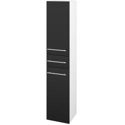 Dřevojas - Skříň vysoká DOS SVD2Z 35 - N01 Bílá lesk / Úchytka T02 / L03 Antracit vysoký lesk / Levé (64702B)