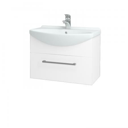 Dřevojas - Koupelnová skříň TAKE IT SZZ 65 - N01 Bílá lesk / Úchytka T03 / N01 Bílá lesk (134389C)