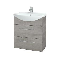 Dřevojas - Koupelnová skříň TAKE IT SZZ2 65 - D01 Beton / Úchytka T03 / D01 Beton (133757C)