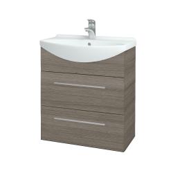 Dřevojas - Koupelnová skříň TAKE IT SZZ2 65 - D03 Cafe / Úchytka T02 / D03 Cafe (133771B)