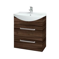 Dřevojas - Koupelnová skříň TAKE IT SZZ2 65 - D06 Ořech / Úchytka T01 / D06 Ořech (133795A)