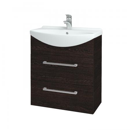 Dřevojas - Koupelnová skříň TAKE IT SZZ2 65 - D08 Wenge / Úchytka T03 / D08 Wenge (133818C)