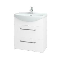 Dřevojas - Koupelnová skříň TAKE IT SZZ2 65 - N01 Bílá lesk / Úchytka T03 / N01 Bílá lesk (134433C)