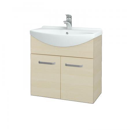 Dřevojas - Koupelnová skříň TAKE IT SZD2 65 - D02 Bříza / Úchytka T01 / D02 Bříza (133245A)