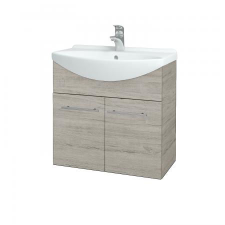 Dřevojas - Koupelnová skříň TAKE IT SZD2 65 - D05 Oregon / Úchytka T02 / D05 Oregon (133276B)