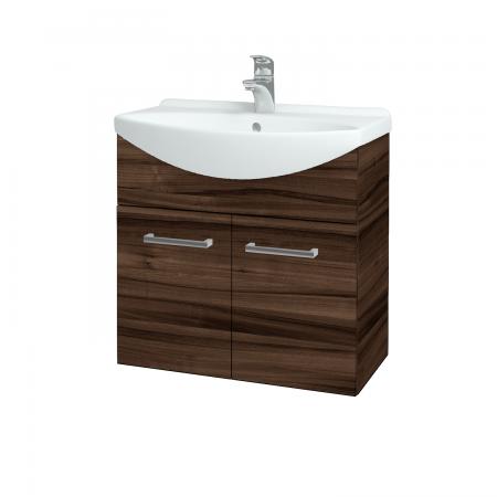 Dřevojas - Koupelnová skříň TAKE IT SZD2 65 - D06 Ořech / Úchytka T03 / D06 Ořech (133283C)