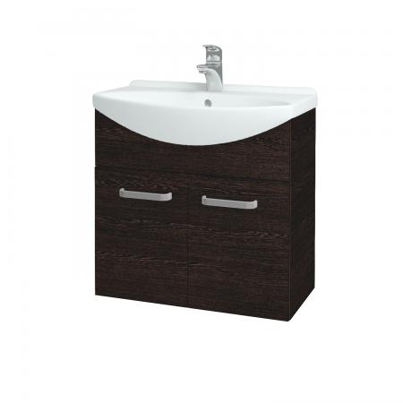 Dřevojas - Koupelnová skříň TAKE IT SZD2 65 - D08 Wenge / Úchytka T01 / D08 Wenge (133290A)