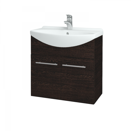 Dřevojas - Koupelnová skříň TAKE IT SZD2 65 - D08 Wenge / Úchytka T02 / D08 Wenge (133290B)