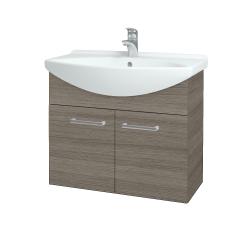 Dřevojas - Koupelnová skříň TAKE IT SZD2 75 - D03 Cafe / Úchytka T03 / D03 Cafe (133320C)