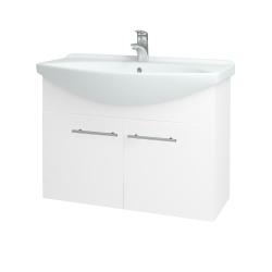 Dřevojas - Koupelnová skříň TAKE IT SZD2 85 - N01 Bílá lesk / Úchytka T02 / N01 Bílá lesk (133603B)
