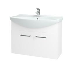 Dřevojas - Koupelnová skříň TAKE IT SZD2 85 - N01 Bílá lesk / Úchytka T03 / N01 Bílá lesk (133603C)