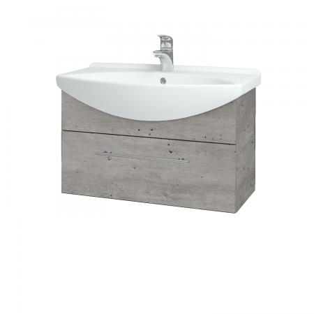 Dřevojas - Koupelnová skříň TAKE IT SZZ 75 - D01 Beton / Úchytka T02 / D01 Beton (133825B)