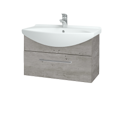 Dřevojas - Koupelnová skříň TAKE IT SZZ 75 - D01 Beton / Úchytka T03 / D01 Beton (133825C)