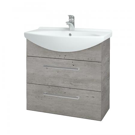 Dřevojas - Koupelnová skříň TAKE IT SZZ2 75 - D01 Beton / Úchytka T03 / D01 Beton (133894C)