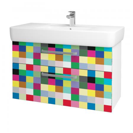 Dřevojas - Koupelnová skříň Q MAX SZZ2 100 - N01 Bílá lesk / Úchytka T01 / IND Individual (132361A)