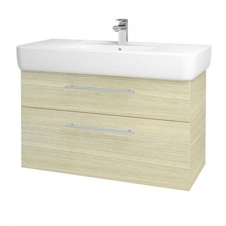 Dřevojas - Koupelnová skříň Q MAX SZZ2 100 - D04 Dub / Úchytka T02 / D04 Dub (132033B)