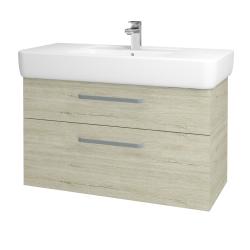 Dřevojas - Koupelnová skříň Q MAX SZZ2 100 - D05 Oregon / Úchytka T01 / D05 Oregon (132040A)