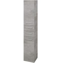 Dřevojas - Skříň vysoká DOS SVD2Z2 35 - D01 Beton / Úchytka T03 / D01 Beton / Levé (132149C)