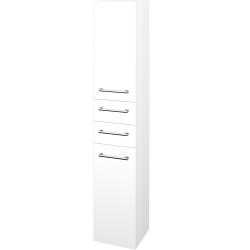 Dřevojas - Skříň vysoká DOS SVD2Z2 35 - N01 Bílá lesk / Úchytka T03 / L01 Bílá vysoký lesk / Levé (132286C)