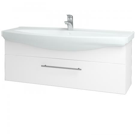Dřevojas - Koupelnová skříň TAKE IT SZZ 120 - N01 Bílá lesk / Úchytka T02 / N01 Bílá lesk (134426B)