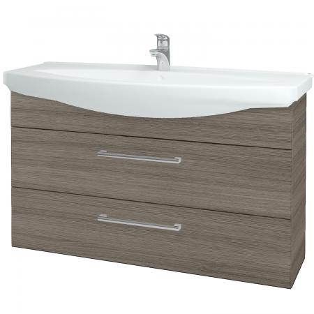 Dřevojas - Koupelnová skříň TAKE IT SZZ2 120 - D03 Cafe / Úchytka T03 / D03 Cafe (134334C)