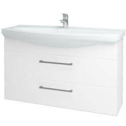 Dřevojas - Koupelnová skříň TAKE IT SZZ2 120 - N01 Bílá lesk / Úchytka T03 / N01 Bílá lesk (134471C)