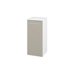 Dřevojas - Skříň spodní DOS SND 35 - N01 Bílá lesk / Úchytka T02 / L04 Béžová vysoký lesk / Levé (154684B)