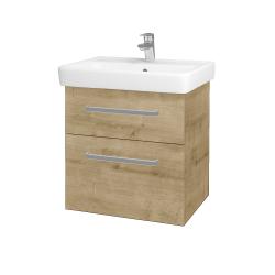Dřevojas - Koupelnová skříň Q MAX SZZ2 60 - D09 Arlington / Úchytka T01 / D09 Arlington (115098A)