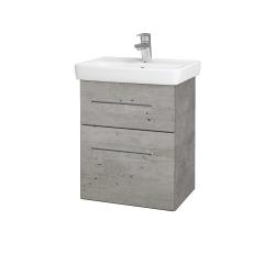 Dřevojas - Koupelnová skříň GO SZZ2 50 - D01 Beton / Úchytka T02 / D01 Beton (148058B)