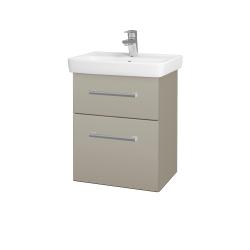 Dřevojas - Koupelnová skříň GO SZZ2 50 - L04 Béžová vysoký lesk / Úchytka T03 / L04 Béžová vysoký lesk (148263C)