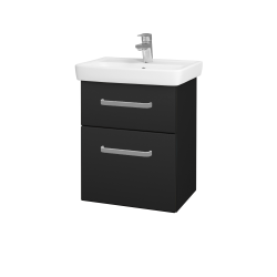 Dřevojas - Koupelnová skříň GO SZZ2 50 - L03 Antracit vysoký lesk / Úchytka T01 / L03 Antracit vysoký lesk (148256A)