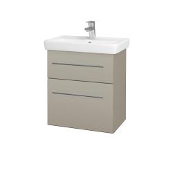 Dřevojas - Koupelnová skříň GO SZZ2 55 - L04 Béžová vysoký lesk / Úchytka T02 / L04 Béžová vysoký lesk (148423B)