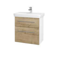 Dřevojas - Koupelnová skříň GO SZZ2 60 - N01 Bílá lesk / Úchytka T02 / D09 Arlington (148621B)