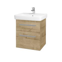 Dřevojas - Koupelnová skříň Q MAX SZZ2 55 - D09 Arlington / Úchytka T01 / D09 Arlington (149000A)