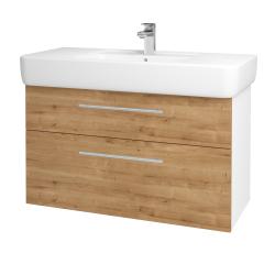 Dřevojas - Koupelnová skříň Q MAX SZZ2 100 - N01 Bílá lesk / Úchytka T02 / D09 Arlington (144234B)