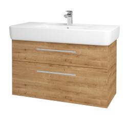 Dřevojas - Koupelnová skříň Q MAX SZZ2 100 - D09 Arlington / Úchytka T02 / D09 Arlington (144227B)
