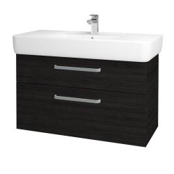 Dřevojas - Koupelnová skříň Q MAX SZZ2 100 - D14 Basalt / Úchytka T01 / D14 Basalt (149161A)