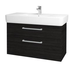 Dřevojas - Koupelnová skříň Q MAX SZZ2 100 - D14 Basalt / Úchytka T03 / D14 Basalt (149161C)