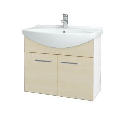 Dřevojas - Koupelnová skříň TAKE IT SZD2 75 - N01 Bílá lesk / Úchytka T03 / D02 Bříza (152024C)